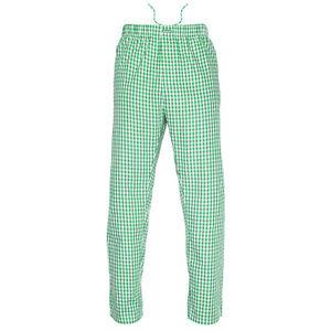 Ritzy Men/Kids/Boys Pajama Pants 100% Cotton Plaid Woven Poplin - BL & BK Checks