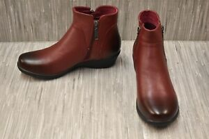 Propet Waverly WFX085L Ankle Bootie - Women's Size 9.5M, Rich Burgundy NEW
