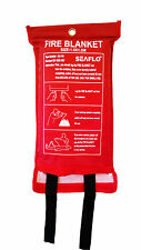 Home Safety 1.5M x 1.5M Fire Blanket Protection Red Sealed Case Fast Release Tab