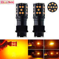 2Pcs Amber Yellow No Resistor Required 3156 35-SMD LED Tail Turn Signal Lights