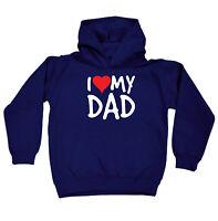 Funny Kids Childrens Hoodie Hoody - I Heart Love My Dad