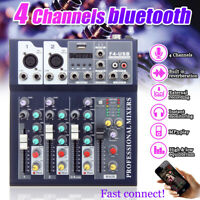 4 Channel USB bluetooth Live Studio Audio Mixer Mixing Console Karaoke Stage KTV