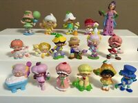 "VINTAGE STRAWBERRY SHORTCAKE MINI FIGURES LOT 1980s KENNER PVC MINI 2"" HTF"