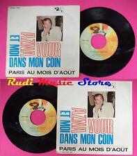 LP 45 7''CHARLES AZNAVOUR Et moi dans mon coin Paris au mois d'aout no cd mc dvd