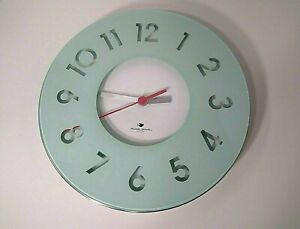 """Michael Graves Collection Celadon 13"""" Glass Wall Clock"""
