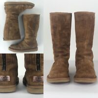 52a81fc0bc7 UGG Australia MILLCREEK SHEARLING SILVER RUBBER TALL LOGO BOOTS 10 ...
