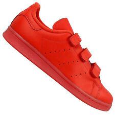 adidas Originals Stan Smith CF Velcro Adicolor Sneaker Schuhe Leder S80043 Rot