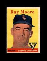 1958 Topps Baseball #249 Ray Moore (White Sox) EXMT