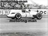 STIRLING MOSS GOODWOOD 1962 GLOVER LOTUS 18 21 1962 BEFORE ACCIDENT PHOTOGRAPH 2