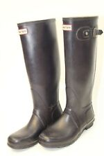 Hunter Womens 8 39 Original Dark Navy Tall Matte Rubber Wellies Rain Boots of