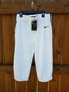 NWT Nike Boys' Pro Vapor WHITE High Baseball Pants Size XL AQ7976-100