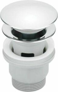 Press-Exzenter mit Überlauf Pop-Up Ablaufventil Kunststoff/Chrom Bad Waschbecken