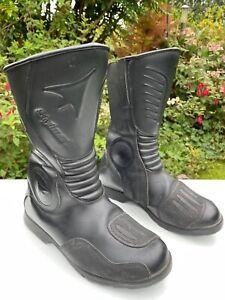 Stylmartin Delta R Black leather waterproof Motorcycle boots 8 UK 42 EU 9 USA