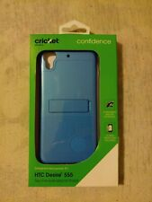 BLUE HTC Desire 555 case 2 Piece Kickstand Shield Case & screen protector.