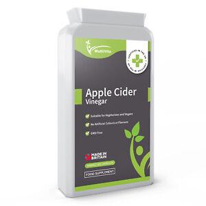 Apple Cider Vinegar 120 Capsules - 1500mg Daily Dosage - Premium Quality UK GMP