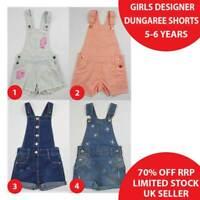 Girls Denim Dungaree Shorts Dungarees 5-6 Years Brand New 50% OFF(DS5-6)