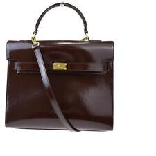 Auth Furla 2WAY Leather Handbag Brown 08GB448