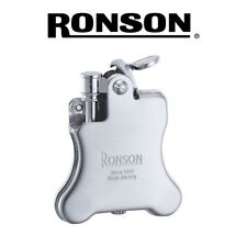 NEW Ronson - Banjo (Satin Chrome)  - Soft Flame Petrol Lighter