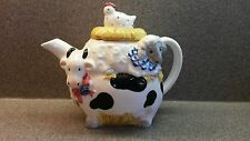 GORGEOUS OTAGIRI JAPAN PORCELAIN COW LAMB CHICKEN TEA POT UNIQUE
