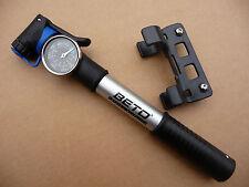 "CRH-033AG BETO 2-way Mini Pump 1.5"" Guage Bike Bicycle Presta Schrader Valve NEW"