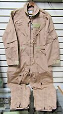 NWT USAF CWU-27/P Tan Flyers Coveralls 40 Short Fire Resistant