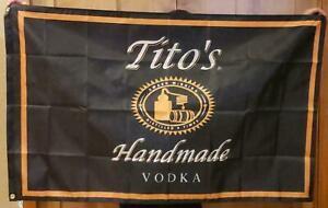 Tito's Vodka 3X5 Flag Banner Promotional man cave basement bar NEW.
