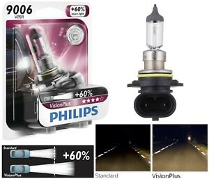 Philips VIsion Plus 60% 9006 HB4 55W One Bulb Head Light Replacement Upgrade OE