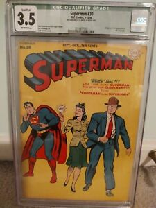 Superman #30 Cgc 3.5 Qualified
