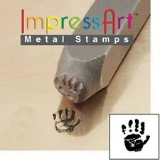 Metal stamp, punch, HAND PRINT LEFT 9.5mm metal stamping