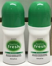 2-Avon Feelin' Fresh Original Roll-On Deodorant - 2.6oz each