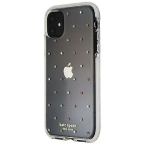 Kate Spade Defensive Hardshell Case for iPhone 11 (6.1-inch) Pin Dot Clear