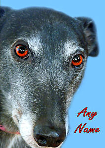 PERSONALISED GREYHOUND LURCHER DOG FATHERS DAY BIRTHDAY ANY OCCASION CARD