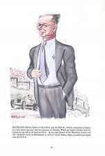 Raymond Mays.1956.Motor racing.E.R.A.Brooklands.B.R.M.Car.Cartoon