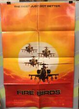 """CAGE, NICHOLAS """"Fire Birds""""Original Movie Poster 1990"""
