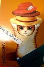 Kitten Big Eyes Cat Of Many Hats Best Wishes Heavy Stock Card Paper
