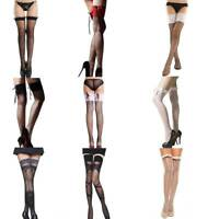 Sexy Women Over The Knee Hold Up Stockings Socks Thigh High Fancy Dress Hosiery