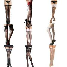 Sexy Ladies Over The Knee Hold Up Stockings Socks Thigh High Bows Dress