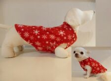 Dog Jumper Snowflakes Red PRINT FLEECE sweeter chihuahua dachshund Vest XXS- XL