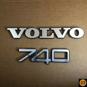 Volvo 740 Trunk Emblems Volvo 740 DL Trunk Badge Volvo 740 DL Trunk Badge OE