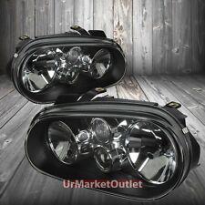 Black Headlight Lamp Light Amber Reflector For VW 99-06 Golf/R32/GTI MK4 TYP-1-J