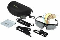 ROCKBROS Polarized Cycling Sunglasses Bike Goggles Riding Hiking Glasses Black