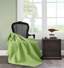 "50"" x 60"" Virah Bella Janessa Jade Lime Green Quilted Throw Super Soft Blanket"