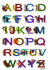"""The Berliner Kids Alphabet ABC Poster Learning Wall Decor 10""""x13"""""""