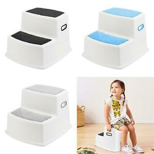 Kids Childrens Non Slip Dual Height Step Up Stool Toddlers Toilet Potty Training