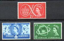 British 1957 Scout Jubilee Mnh set S.G. 557-559