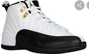Air Jordan 12 Retro- Black/White/Metallic Gold