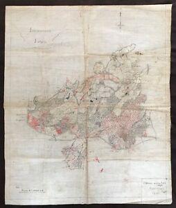 Isenhurst Estate East Sussex c.1890s/1900 Hand Drawn & Coloured Estate Map