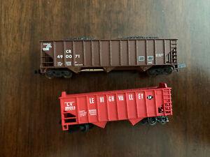 N Scale Lehigh Valley & Conrail Hopper Cars