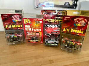 8 X Action/Racing Champs Promos - 2 X Gordon, Elliott, Rudd, Jarrett + More