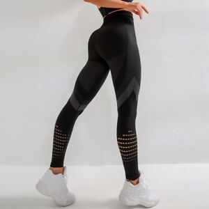 Women High Waist Yoga Pants Anti-Cellulite Leggings Seamless Sports Gym